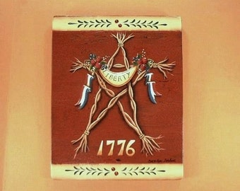 1776 Liberty Sign Hand Painted on Wood 460