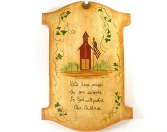 Country School Prayer Art on Wood 365