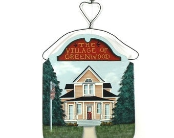 Sign Village Country Home Hand Painted on Wood x093