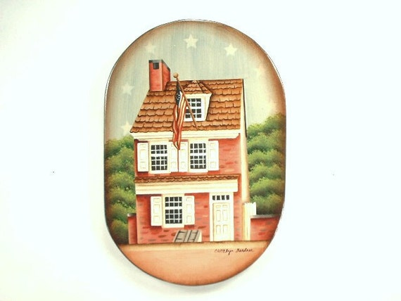 Home Colonial Era 1776 Hand Painted Wood Plaque 707