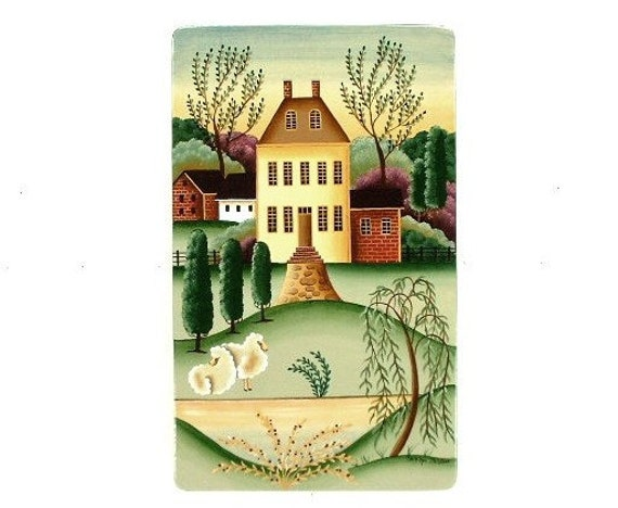 Country Ivy Hill Estate Hand Painted Wood Plaque 447