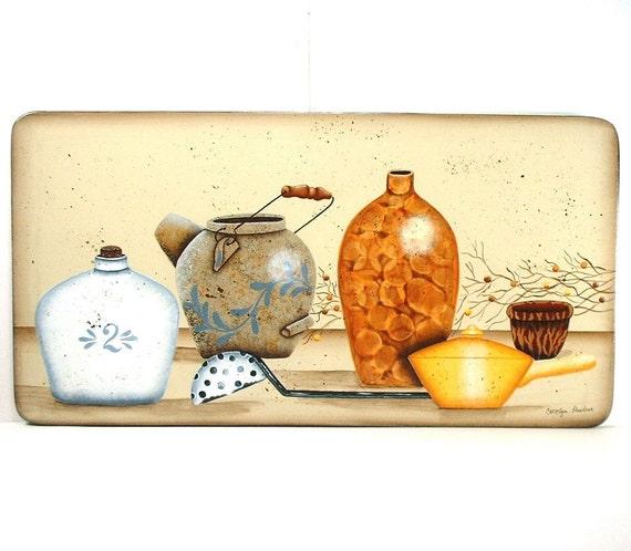 Vintage Kitchen Pottery Decorative Arts Wall Decor 562