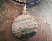 Handcrafted Jasper and Sterling Silver Pendant (P127a)