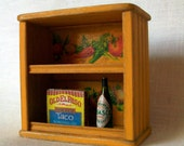 Yellow Southwestern Style Shelf (1 inch dollhouse scale)