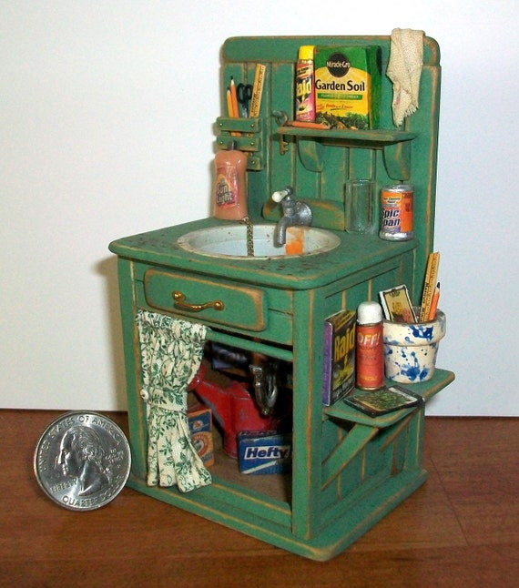 Garden Shed Sink (1 inch dollhouse scale)