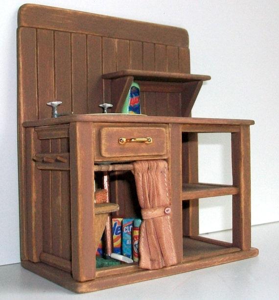 Miniature Kitchen: Miniature Kitchen Sink 1 Inch Dollhouse Scale