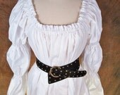 White (or ANY color) cotton long-sleeved Renaissance shirt (with extra elastic in the arms)