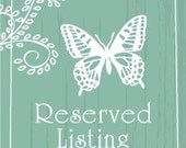 RESERVED LISTING for weddingproject -- Remaining Balance for Bridal Order