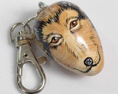 COLLIE Dog Charm for Purse -  Backpack -  Key Ring - ZIpper Pull
