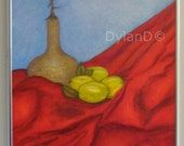 Original Painting --- 16 x 20 Lemons Still Life --- Acrylic on Canvas --- Frame Included by DylanD