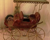 CLEARANCE Collectible Metlox Poppytrail Surrey 624 Carriage Buggy - Burgundy