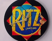 Kitchen Wall Clock Ritz Crackers Recycled Materials