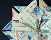 Airmail Par Avion Travel Theme Origami Clock