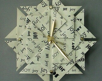 Unique 1st Anniversary Or Wedding Gift - JOY Clock - Large - Black Type