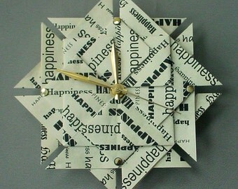 1st Anniversary Origami Gift Idea - Happiness Clock - Large
