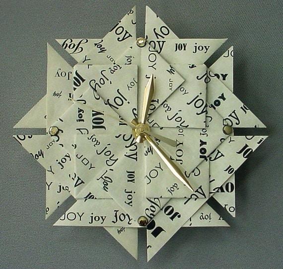 Unique 1st Anniversary Or Wedding Gift - JOY Clock - Large - Black Type