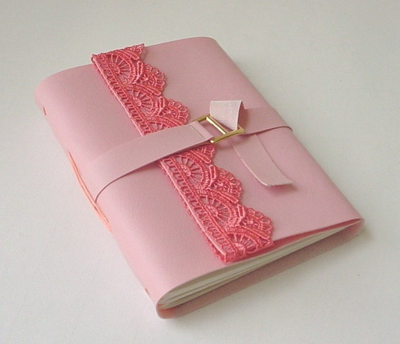 Birthday Gift Idea For Her - Vegan Pink Faux Leather Journal/Notebook
