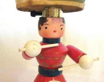 Little Drummer Boy Vintage  Wooden Child's Lamp by Barneche/ Stephanie Barnes