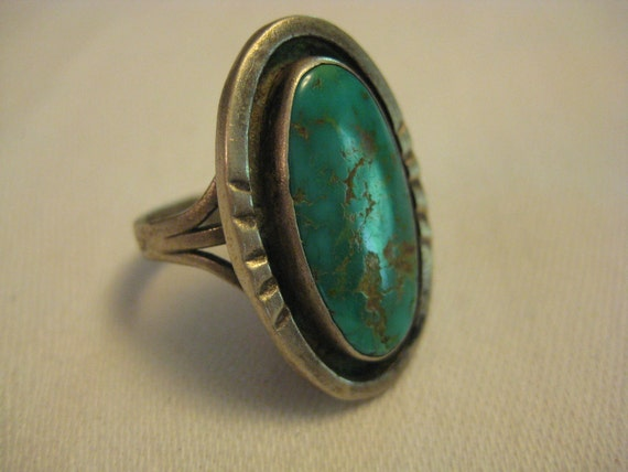 VintageTurquoise and Silver Ring by Barneche