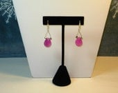 ITEM 40402 LOVELY SET OF EARRINGS WITH  PINK CHALCEDONY TO MATCH NECKLACE ITEM 442