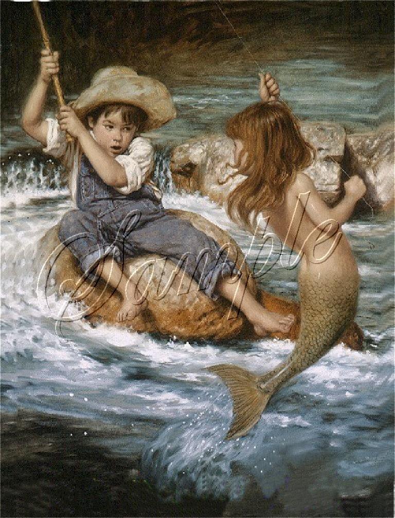 Famous Little Mermaid Paintings