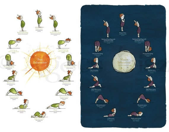 Day&Night Yoga Poster Pack