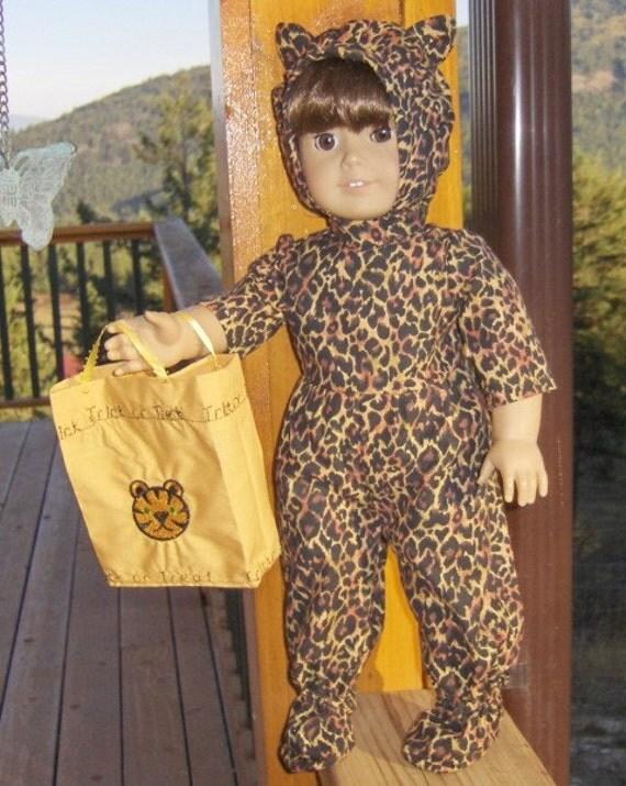Cat Girl Halloween Costume for American Girl Doll