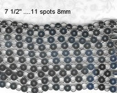 10 Silver-tone Bracelet disk and loop Findings Forms blanks for button jewelry making 8mm with holes