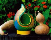 Unique & Affordable Art Color Photography Still Life Nature Photography of Flowers and a Painted Gourd for Home Decor and Office Decor