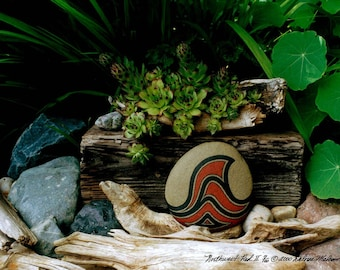 Zen Art Nature Photography Still Life Wall Art Unique Gifts Idea Driftwood Rocks Green Plants Serene Garden Scene