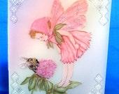 Flower Fairy parchment card