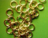 50 Gold Plated Open Jump Rings 6mm