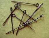 50 Bronze Eye Pins