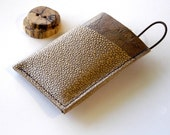 Leather Wallet 3 Pocket with Stay In Place Attachment - Rustic - Textured Pebble Leather