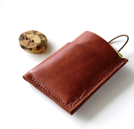 Leather Wallet 3 Pocket with Stay In Place Attachment - Rustic - Minimalist Series