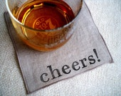 CHEERS Reusable & Eco Friendly Cocktail Party Napkins, New Years