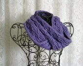 Lavender Ribbed Waves Infinity/Circle Scarf