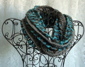 Waterscape Ruffled Infinity Scarf