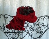 Cranberry Red Trendy Scarflette