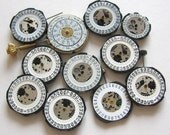 On reserve - Watch Movements with Date Dials - vintage salvaged steampunk found objects (WP0001)