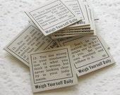 Set of 20 Vintage Fortune or Horoscope Slips antique ephemera (OE0004)