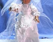 White Satin Bride Dress - Fits American Girl Dolls