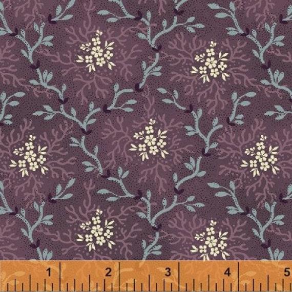 Vanity Fair by Windham 30944 Plum Floral Civil War Reproduction Fabric