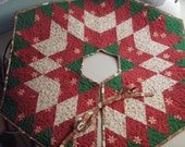 Quilted Christmas Tree Skirt Traditional