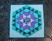 snack mat purple & teal Reserved for Kay
