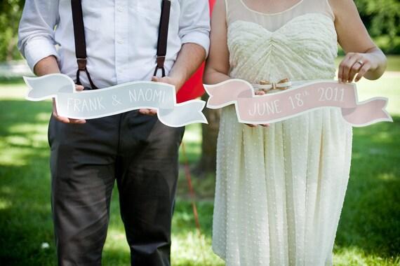 Set of 2 Custom Large Banner No. 2 Wedding Photo Prop