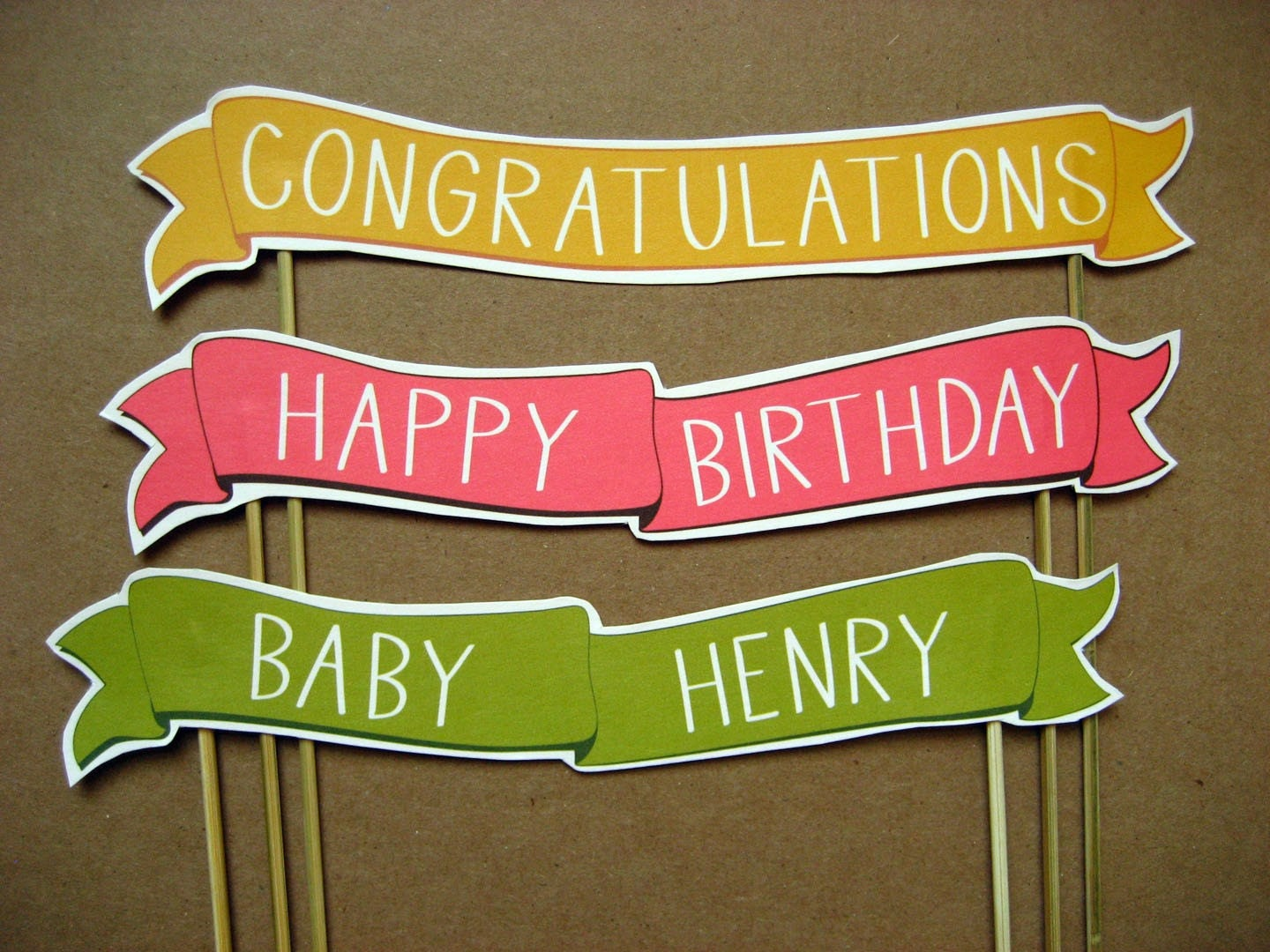 Sale Half Off Congratulations Cake Banner In Yellow And