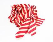 S A L E  Red & Gold Stripe Necktie Scarf