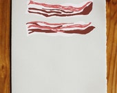 Bacon blank greeting card