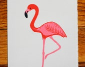 Flamingo blank greeting card